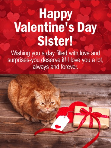happy valentines day wishes image for sister
