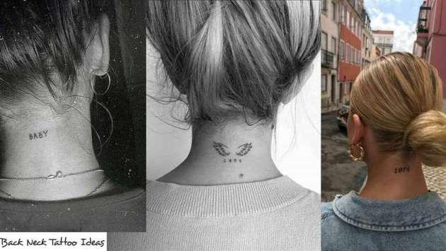 back neck tattoo ideas for women
