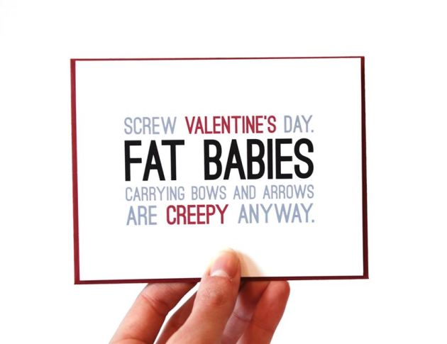 sarcastic funny valentines day message image