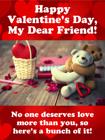 happy valentines day message image for dear friend