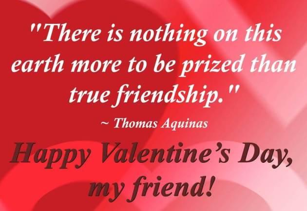 happy valentines day true friendship quote image