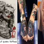 unique king and queen tattoo designs