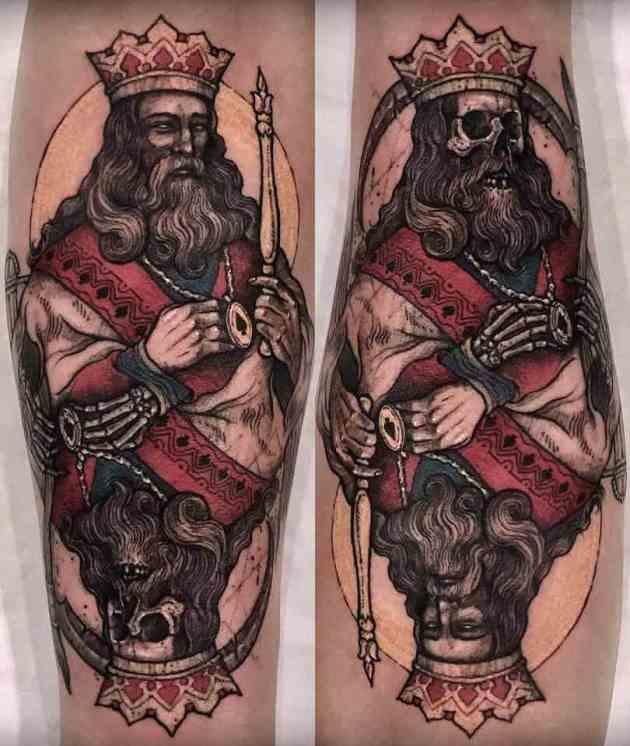 ancient Greek King Tattoo design