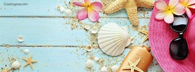 beach seashells summer facebook timeline cover photo for girls