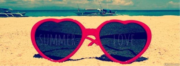 summer love sunglasses facebook timeline cover photo
