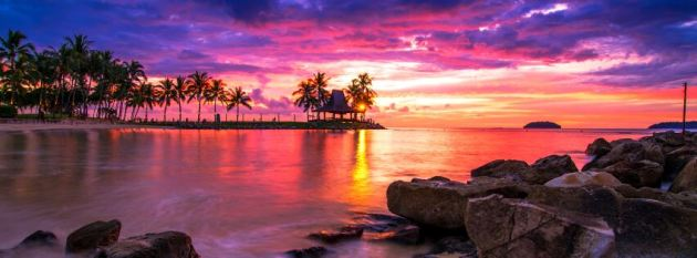 summer sunset at sea facebook timeline cover photo