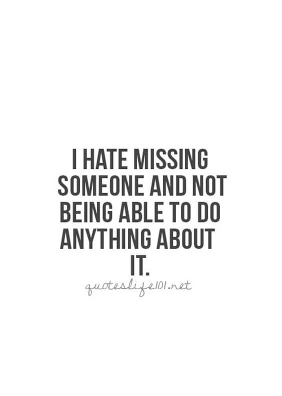 hate to miss someone quote