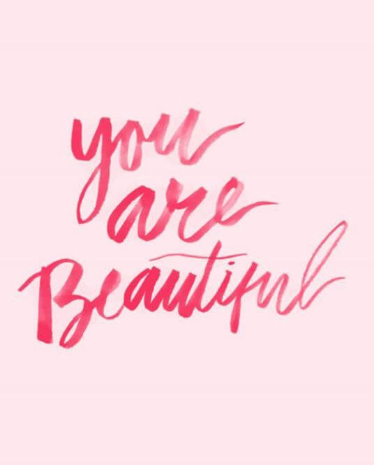 you are beautiful image to make her smile