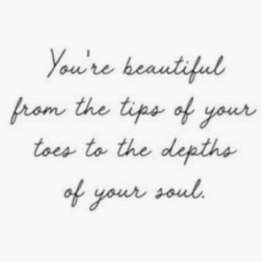 you are beautiful quote for her smile
