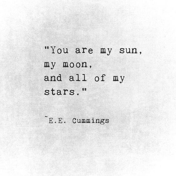 you are my sun my moon and my stars quote to make her smile