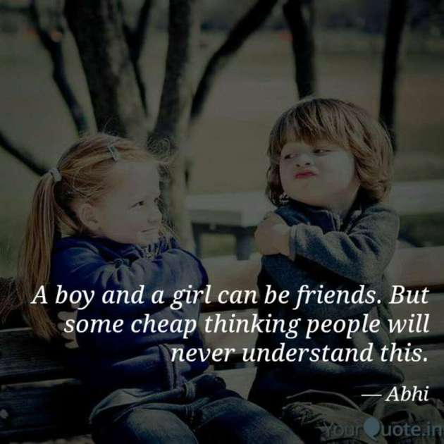 a boy and a girl can be best friends quote image