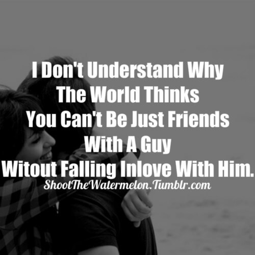 just friend girl and boy friendship quote image