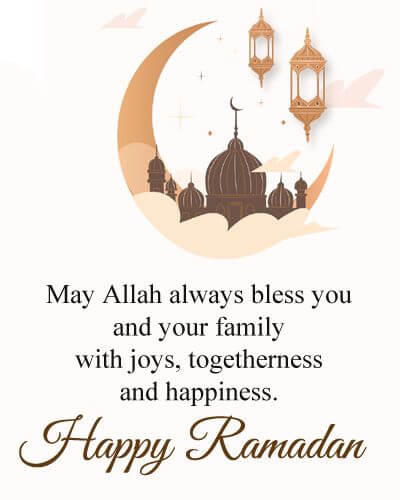 happy ramadan greetings to you and your family