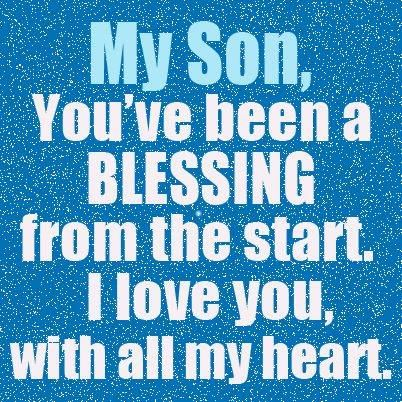 i love you from all my heart message for son
