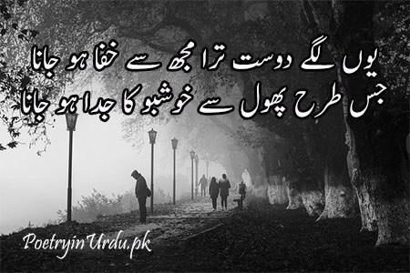 khafa dost shayari image