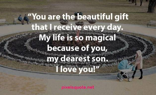 my dearest son i love you quote image