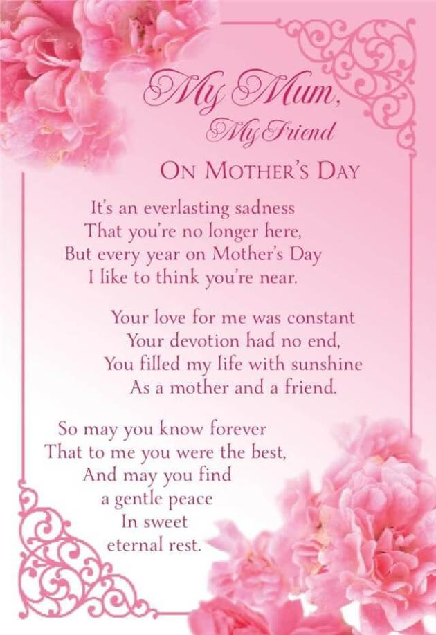 my mom my friend quote for mothers day