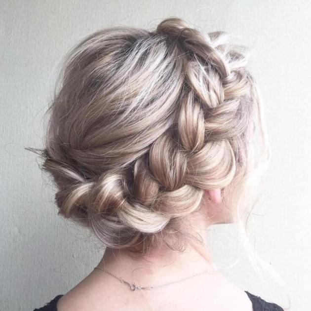 dutch braid crown hairdo