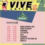 Vive Latino - Indio - Horarios Domingo