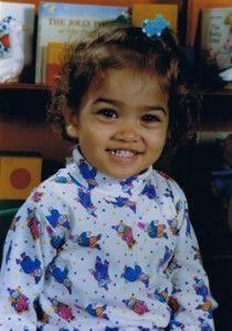 Shanina Shaik, foto de infância um em pinterest.com