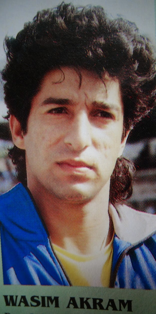 Wasim Akram jongere foto een via Cricpix.blogspot.ro/