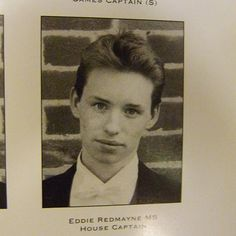 Eddie Redmayne yearbook photo one at Pinterest.com at Pinterest.com