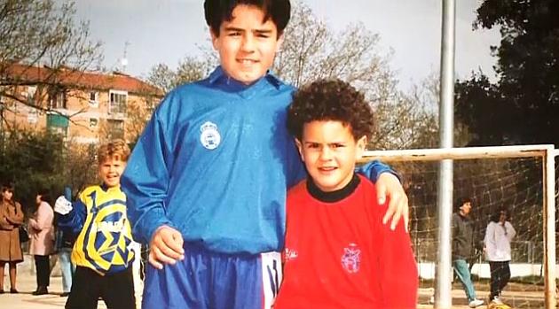 Koke childhood photo one at Marca.com