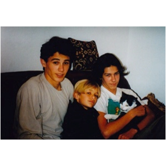 Dave Franco childhood photo two at Pinterest.com