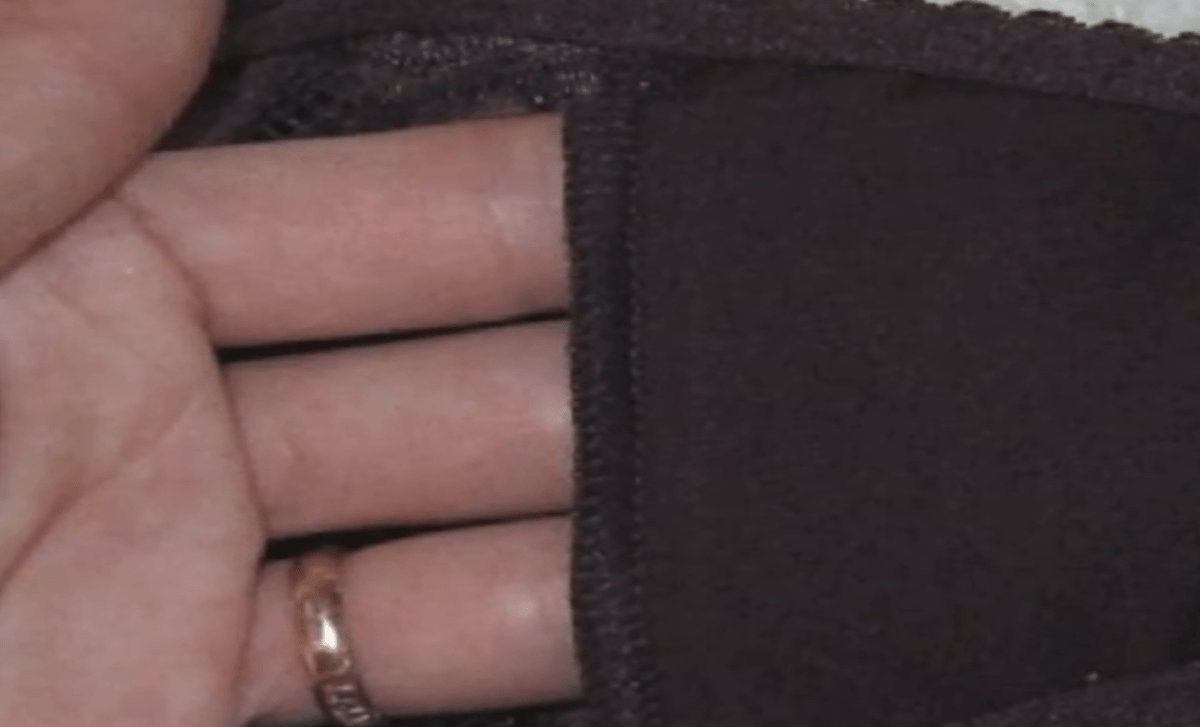here is the little panties pocket in question - you can fit three fingertips in it easily