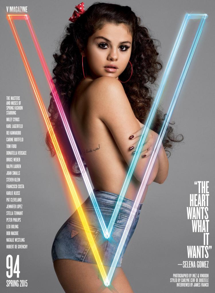 Selena Gomez V magazine, poses topless denies Zedd romance