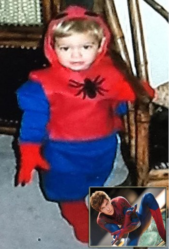 Andrew Garfield childhood photo two at funyarn.com