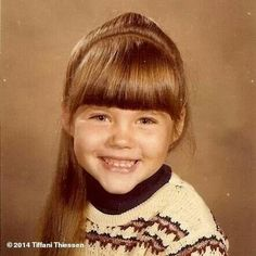Tiffani Thiessen kindertijd foto een via Pinterest.com