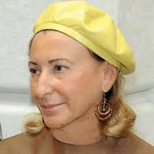 Miuccia Prada - the talented, sweet, nice,  designer  with Italian roots in 2017