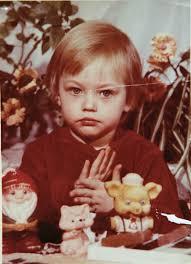 Sasha Pivovarova, foto de infância um em Au.pinterest.com