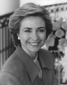 Hillary Clinton younger photo two at nndb.com