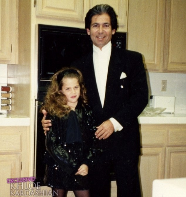 Khloe Kardashian childhood photo two at dailymail.co.uk