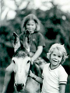Kiefer Sutherland childhood photo two at pinterest.com