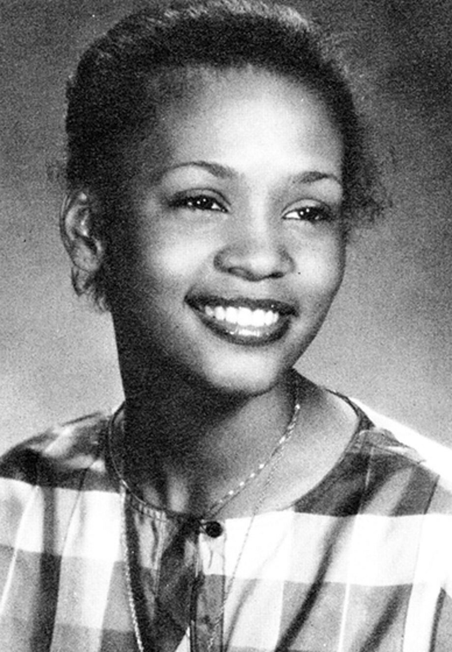 Whitney Houston yearbook photo one at pinterest.com at pinterest.com