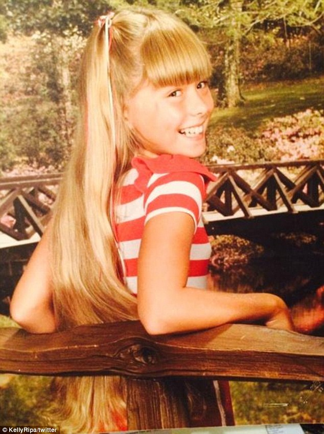 Kelly Ripa childhood photo two at dailymail.co.uk