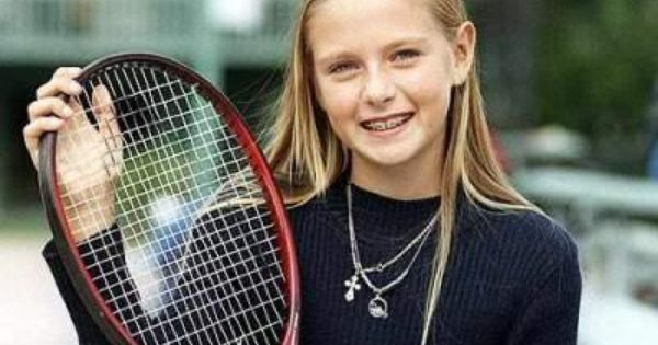 Maria Sharapova childhood photo one at pinterest.com