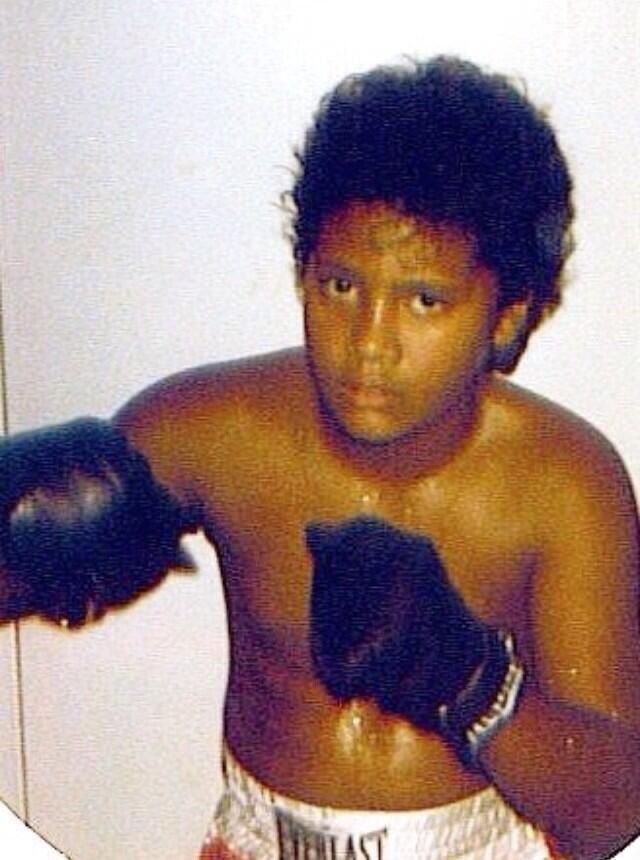 Dwayne Johnson childhood photo one at pinterest.com