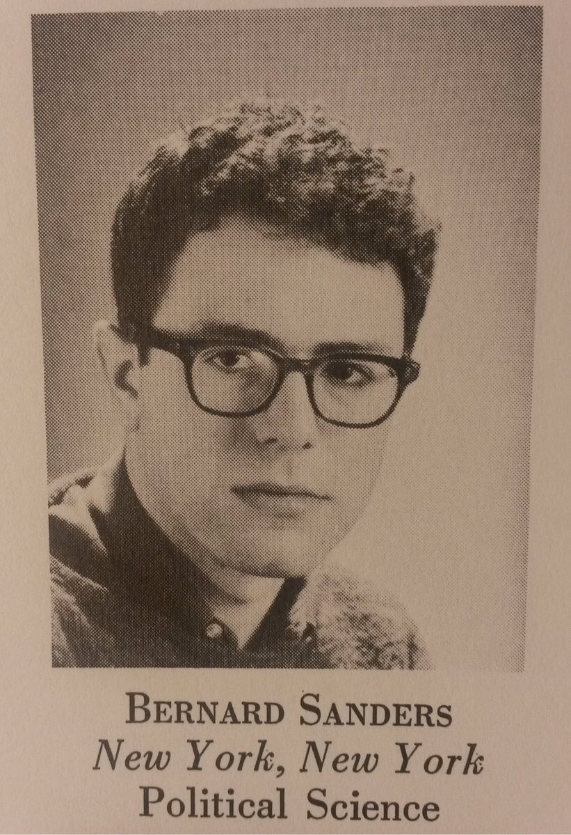 Bernie Sanders yearbook photo one at Reddit.com at Reddit.com