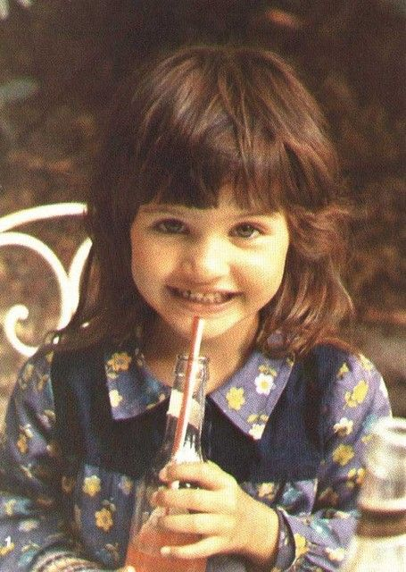 Helena Christensen childhood photo one at Pinterest.com