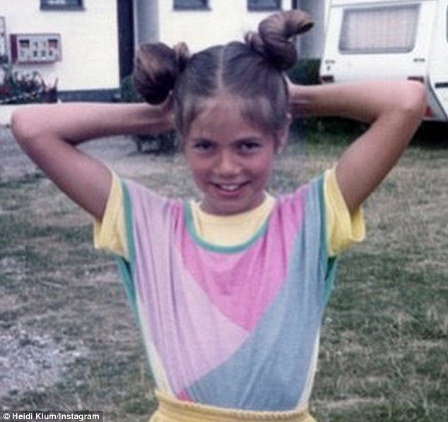 Heidi Klum kindertijd foto een via dailymail.co.uk