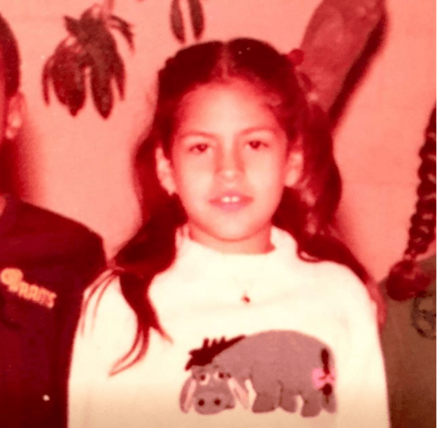 Eva Mendes childhood photo one at buzzfeed.com