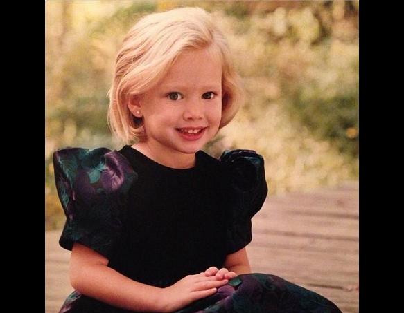 Hilary Duff childhood photo one at pinterest.com