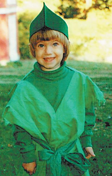Allison Williams, foto de infância um em nydailynews.com