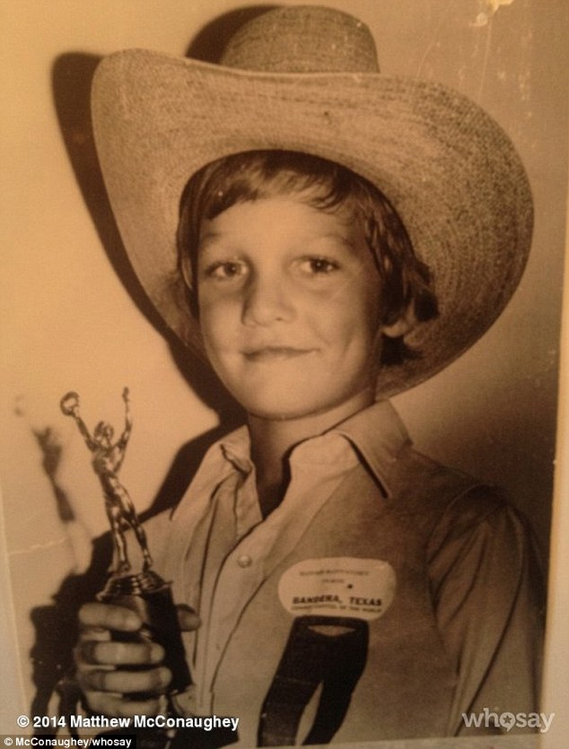 Matthew McConaughey childhood photo one at pinterest.com