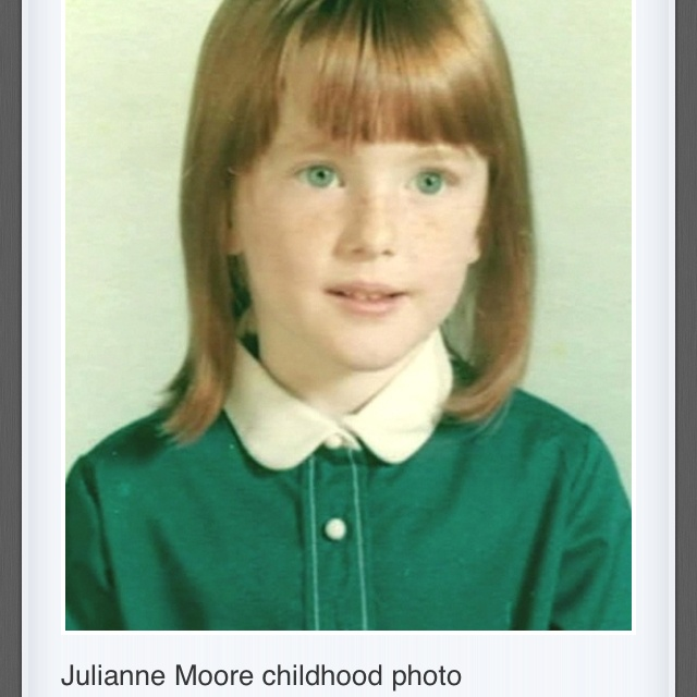 Julianne Moore kindertijd foto een via pinterest.com