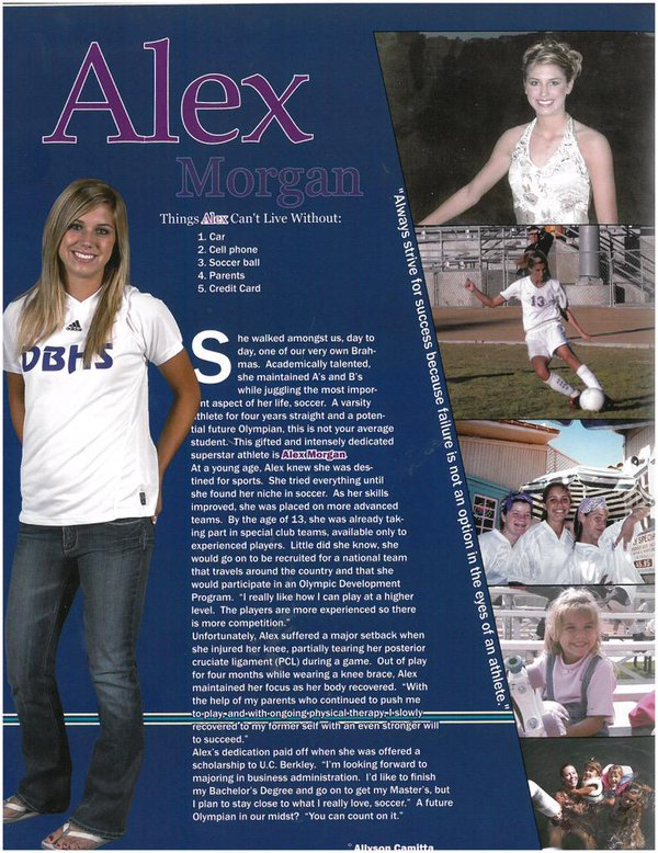 Alex Morgan yearbook photo one at twitter.com at twitter.com